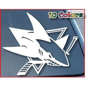 San Jose Sharks Car Window Vinyl Decal Sticker 6 Wide