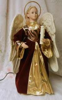Creations Animated Electric Christmas Angel Figure Music Player