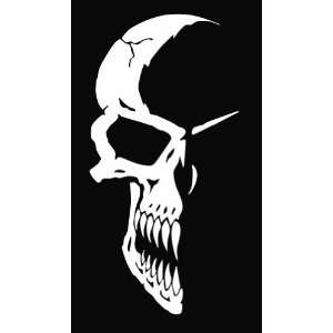 Half Skull Vinyl Decal Sticker