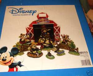 DISNEY ENESCO 14 PIECE MICKEY MOUSE SCULPTED FIGURINE