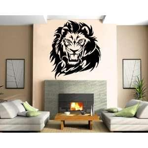 Lions Roar King of Jungle Big Cat Head Tribal Animal Design Wall