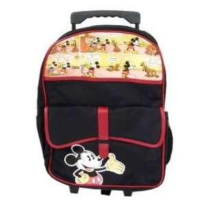 Disney Mickey Mouse Large Rolling Backpack Luggage#20646 Toys & Games