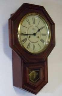 Octagonal Striking Regulator Schoolhouse Clock
