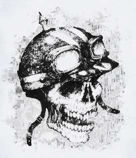 Army Skull T Shirt helmet funny crazy skeleton choppers