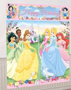 DISNEY PRINCESS SCENE SETTER BIRTHDAY WALL DECORATION GIANT POSTER NEW