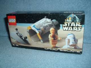 DROID ESCAPE Lego STAR WARS 7106 MISB 2001 Minifig C 3PO R2 D2 Escape