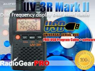 BAOFENG New mode UV 3R Mark II 136 174/400 470Mhz Dual Band Radio