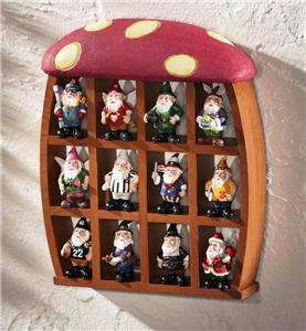 Garden Mushroom Collectible Wooden Display Curio (Gnomes not included