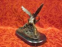 Bronze Sculpture Angel  Psyche and Eros  Statue Figure Cupid