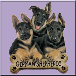 German Shepherd Puppies w/Bone WOMENS SHIRTS S XL,2X,3X