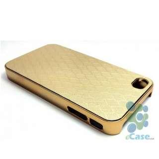 GOLD Golden Honeycomb Design Pattern Chrome Hard Snap Case Cover
