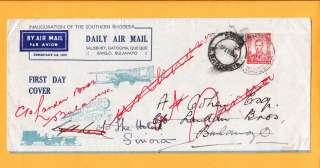 Southern Rhodesia First Daily Air Mail Cover George VI Forwarded 1938