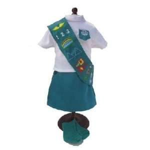 Authentic Girl Scout Uniform for 18 Inch Dolls Toys & Games