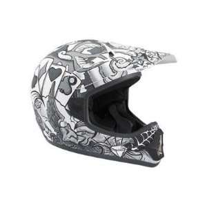 Fox Racing Tracer Pro Jr. MX Bicycle Helmet   Grey   01054