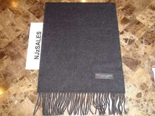 Charcoal Gray Wool SCARF Made in SCOTLAND X Mass Sale S010