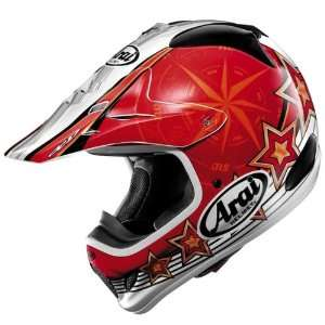 Arai VX Pro 3 Salminen Star Helmet   Color  red   Size