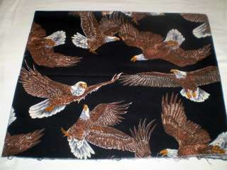 SHAMASH & SONS AMERICAN EAGLES FABRIC HARLEY DAVIDSON 1 YARD