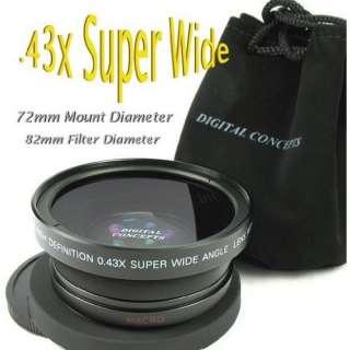 .43x Fish Eye /Wide Angle Lens for Nikon Nikkor 18 70mm or