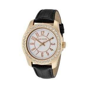 Lancaster Womens Non Plus Ultra White Crystal White Dial Rose Gold IP