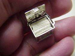 Silver BOX OF PLAYING CARDS Charm, OPENS to real DECK OF CARDS