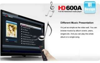 HiMedia Full 1080P HD Network Media Player HD600A TV BOX WiFi