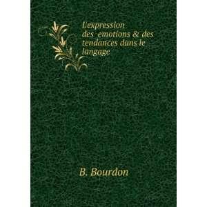 expression des �emotions & des tendances dans le langage: B