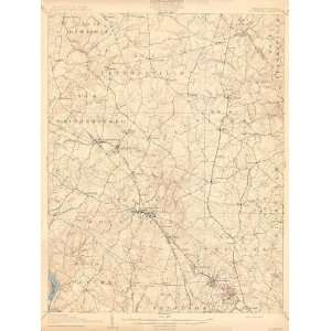 USGS TOPO MAP ROCKVILLE QUAD MARYLAND (MD/VA) 1908 Home
