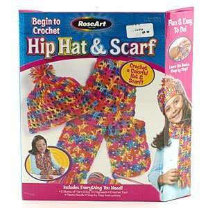 Rose Art Begin to Crochet Hip Hat & Scarf: Toys & Games