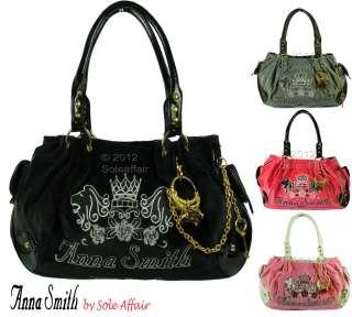 Womens Anna Smith Designer Boutique Handbag Ladies Couture Charm