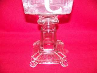 Ripley Hollow Square stem table oil lamp large one