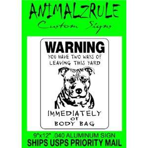 PITBULL DOG SIGN ALUMINUM