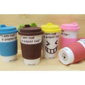 Eco Cup/I am not a paper cup/Ceramic Mug/Smile Cup