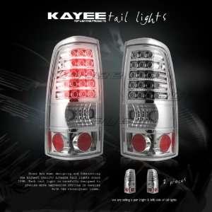 99 02 SILVERADO SIERRA CHROME LED TAIL LIGHTS LAMPS
