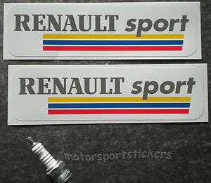 Pair of 7 RENAULT SPORT Stickers/Decals