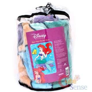 Disney Princess Little Mermaid Ariel Raschel Plush Mink Blanket 60 x