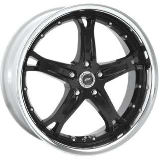 17X9 BLACK DJ MUSTANG FORD EARNHARDT WHEELS