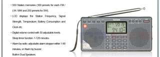 Tecsun PL390 New PLL FM Stereo/MW/LW/SW World Band Dual Speaker Radio