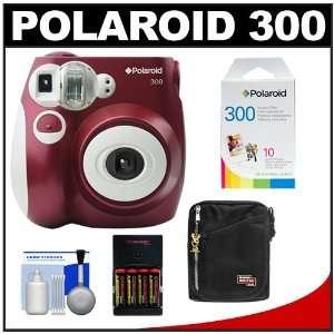 com Polaroid PIC 300R Instant Film Analog Camera (Red) with Polaroid