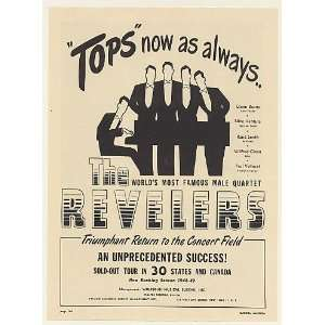 1948 The Revelers Male Quartet Booking Print Ad (Music