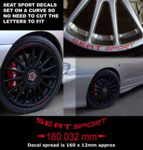 Seat Sport Wheel Rim Decal stciker to fit OZ Racing Wheel Red X8 large