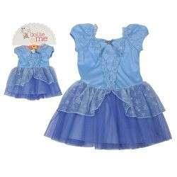 NWT DOLLIE & ME BLUE PRINCESS DRESS+DOLL DRESS SIZE 5 $46