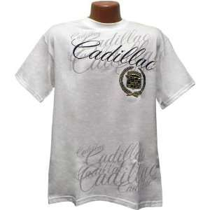 Cadillac Repeating Script White Tee Shirt Xx Large: Sports