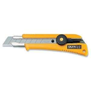 OLFA Heavy Duty Ratchet Lock Knife w/ Rubber Grip L 2