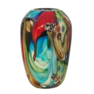 Dale Tiffany Multi Colored Art Glass Flower Vase Home