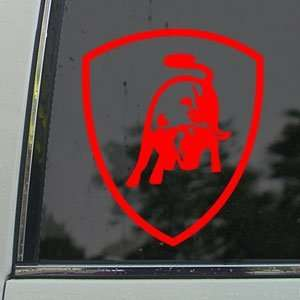 Red Decal Logo Bull Car Truck Window Red Sticker Arts, Crafts