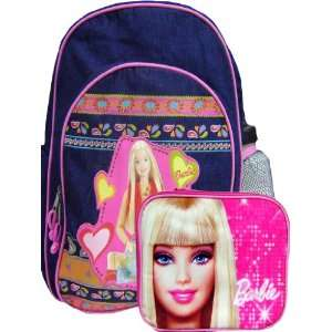 Cute Barbie Deming Backpack and Lunch Box Set Toys