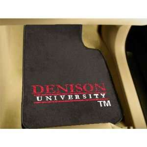 Denison Big Reds NCAA Car Floor Mats (2 Front) Sports