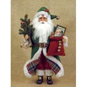 Karen Didion Originals Tartan Santa Claus doll 16