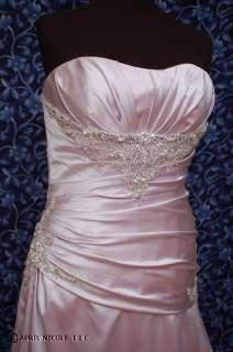 6803 Mauve Purple Satin Strapless Wedding Formal Dress 16 NWT