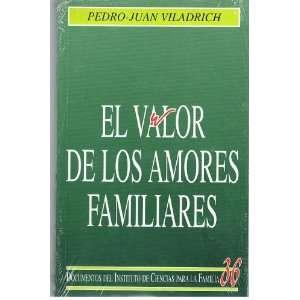 De Los Amores Familiares PEDRO JUAN VILADRICH, EDICIONES RIALP Books